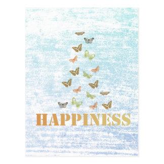 Papillons de bonheur carte postale