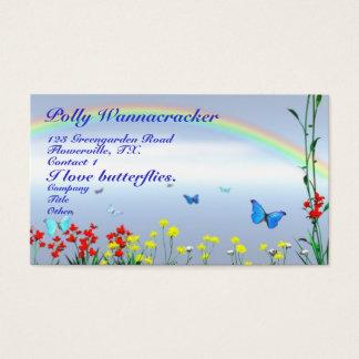 Papillons de jardinage cartes de visite