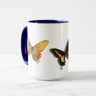 Papillons de la tasse 3 D de papillon