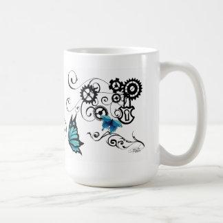 Papillons de tribal de Steampunk Tasse À Café