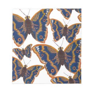 Papillons d'empereur pourpre bloc-note