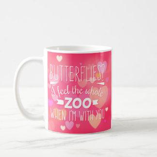 Papillons drôles de valentine ? Je sens tout le Mug