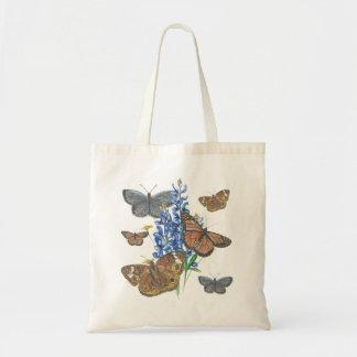 Papillons et Bluebonnets Sacs De Toile