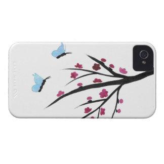 Papillons et fleurs coque Case-Mate iPhone 4