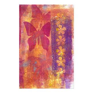 Papillons et fleurs papeterie