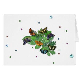 Papillons feuilles, gouttes de pluie, perler cartes