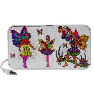 Papillons floraux de filles de papillon haut-parleur iPod