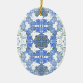 Papillons pour vous ornement ovale en céramique