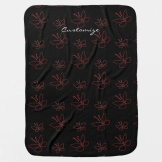 papillons roses Thunder_Cove noir d'ensemble Couvertures De Bébé