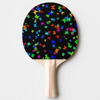 Papillons sur le noir raquette tennis de table