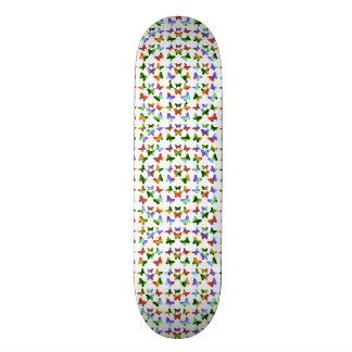 Papillons tropicaux de remous d'arc-en-ciel skateboards personnalisés