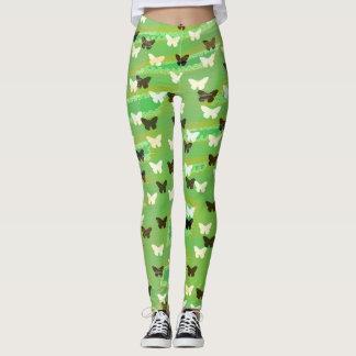 Papillons verts leggings