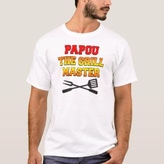 Papou le maître de gril t-shirt
