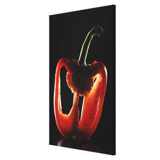 Paprika, légume, arrière - plan noir toiles