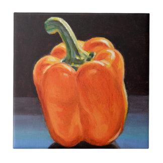 Paprika Orange lumineux Carreau