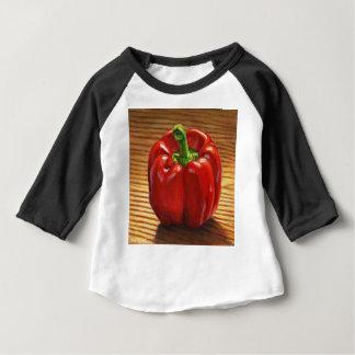 Paprika Rouge T-shirt Pour Bébé