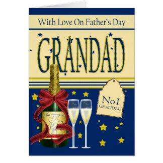 Papy, carte de fête des pères - Champagne