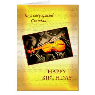 Papy, une carte d'anniversaire musicale avec un