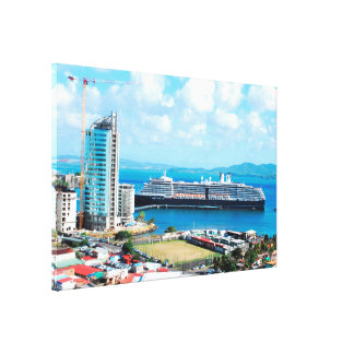 Paquebot en Martinique Toile
