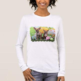 Pâques - Chipin Rockwell - chiwawa Rambo - Mahne T-shirt À Manches Longues