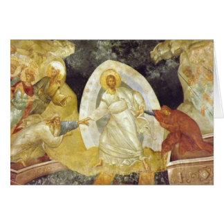 Pâques/église de Chora de fresque d'Anastasis Carte De Vœux