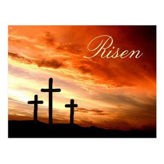 Pâques levée carte postale