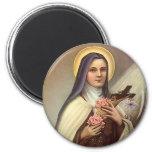Pâques religieuse vintage, roses croisés du Christ Aimants