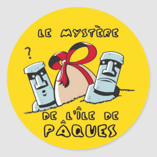 paques sticker rond