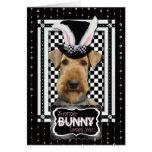 Pâques - un certain lapin vous aime - Airedale