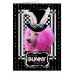 Pâques - un certain lapin vous aime - caniche - ro carte de vœux