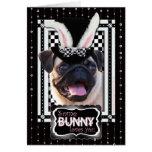 Pâques - un certain lapin vous aime - carlin cartes de vœux