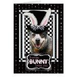 Pâques un certain lapin vous aime chien australien carte