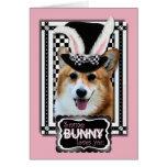 Pâques - un certain lapin vous aime - corgi Owen Carte De Vœux