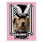 Pâques - un certain lapin vous aime - golden retri carte postale