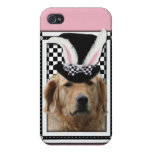 Pâques - un certain lapin vous aime - golden retri coques iPhone 4/4S