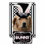 Pâques - un certain lapin vous aime - golden retri découpage en acrylique