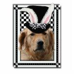 Pâques - un certain lapin vous aime - golden retri photo sculpture