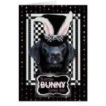Pâques - un certain lapin vous aime - Labrador - n Carte De Vœux