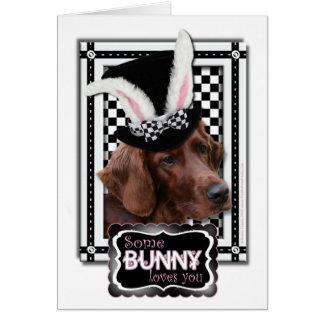 Pâques - un certain lapin vous aime - poseur cartes