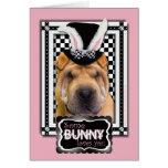 Pâques - un certain lapin vous aime - Shar Pei Carte