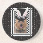 Pâques - un certain lapin vous aime - Terrier aust Dessous De Verre