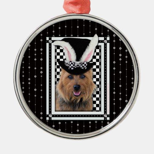 Pâques - un certain lapin vous aime - Terrier Ornement Rond Argenté