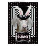 Pâques - un certain lapin vous aime - Weimaraner Cartes