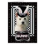 Pâques - un certain lapin vous aime - Westie Carte De Vœux