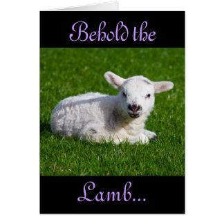 Pâques voient l'agneau carte de vœux