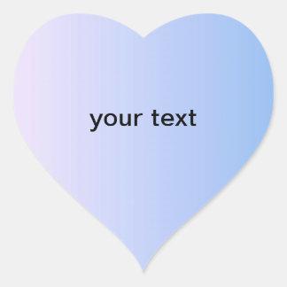 Paquet bleu d'autocollant de coeur sticker cœur
