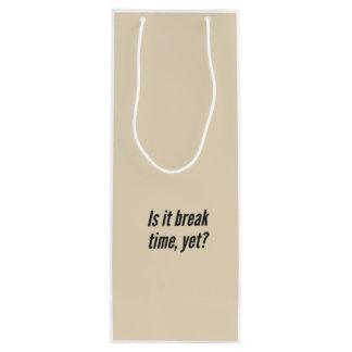 """Paquet de cadeau de sac de vin de """"déjeuner"""" de"""