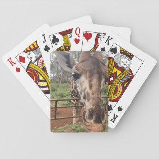 Paquet de cartes de girafe jeu de cartes
