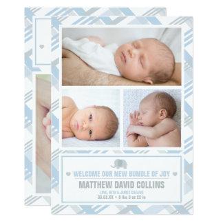 Paquet de joie, annonces de naissance de garçon carton d'invitation  12,7 cm x 17,78 cm