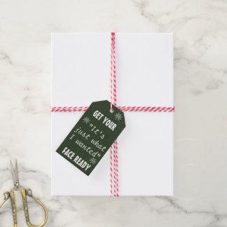 Paquet drôle des étiquettes | de cadeaux de Noël